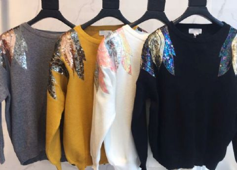 Seema Sequin Knitted Jumper
